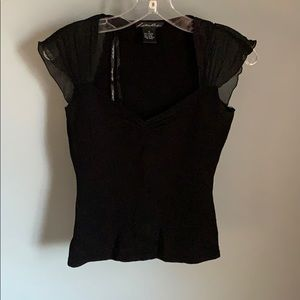 Lillie Rubin Ladies Black Top